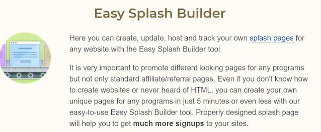 easyhits4u splash pages builder is great