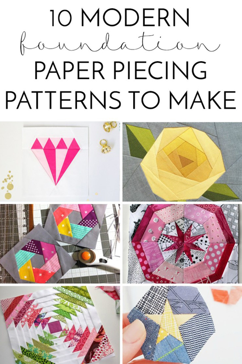 Modern Foundation Paper Piecing Patterns to Make
