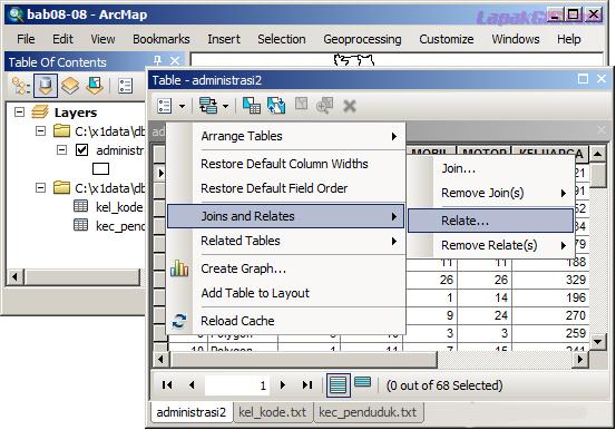 Cara Menggabungkan Tabel Pada ArcGis