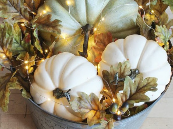 How to Make a Lighted Pumpkin Basket and other DIY's for Fall