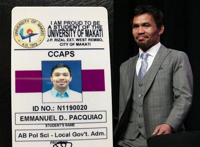 Filipino Boxer & Senator, Manny Pacquiao Goes Back to School