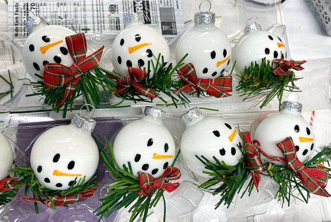 DIY Snowman Ornaments for Christmas Craft Fairs