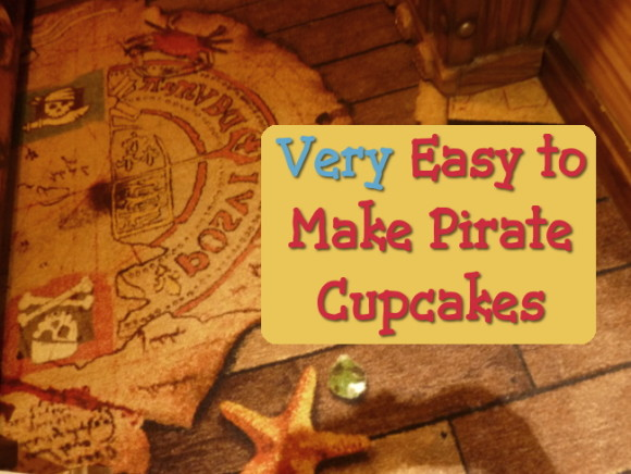 Decorating cupcakes with a pirate theme ideal for pirates of the carribean and jake and the neverland parties
