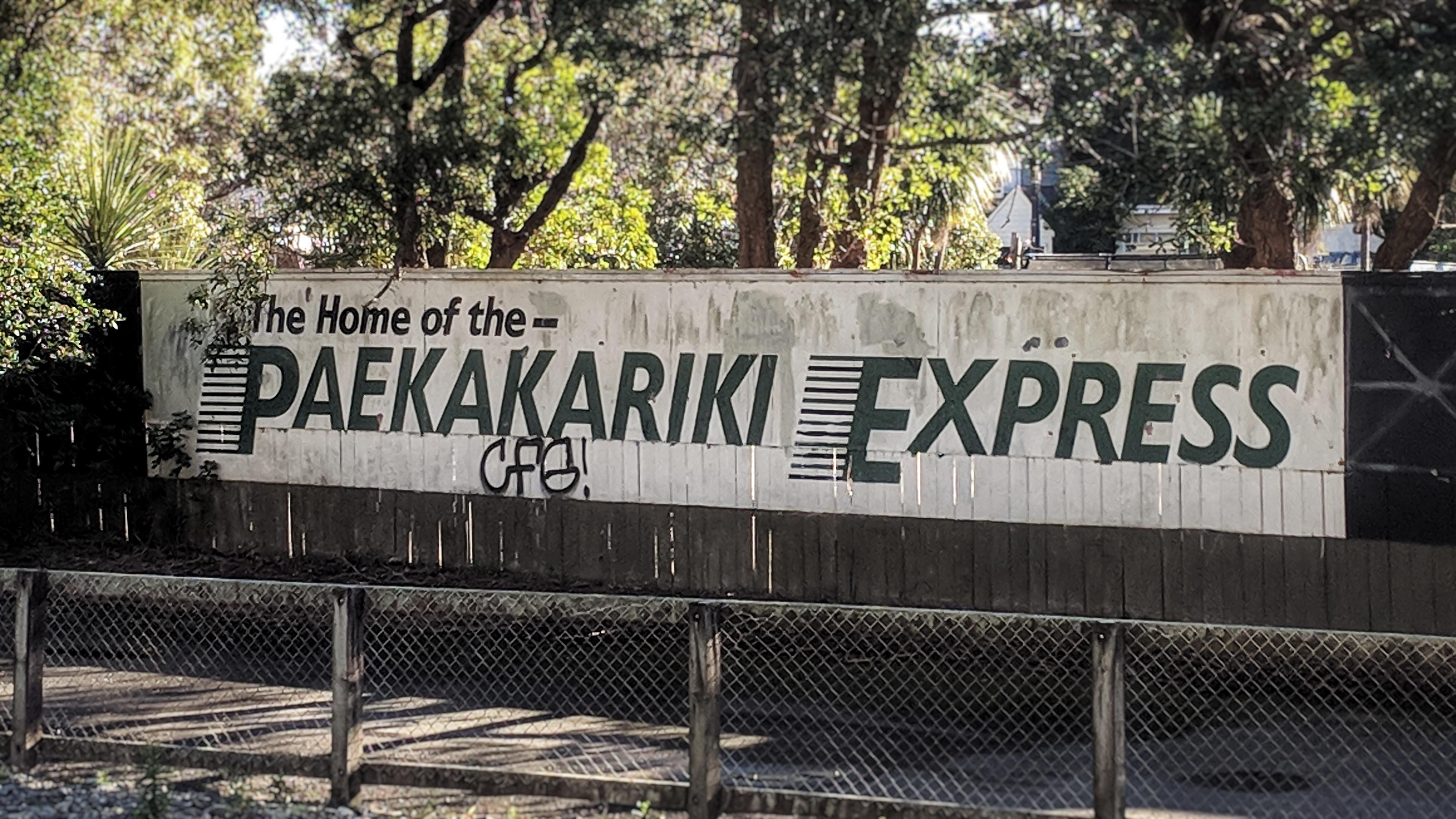 Paekakariki Express sign