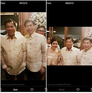 President Rodrigo Duterte with Peter Lim