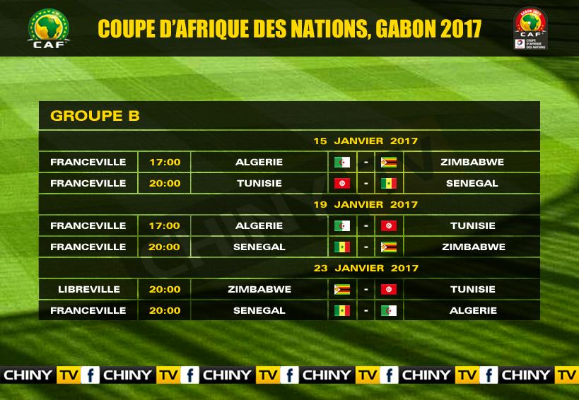 Caf coupe d 39 afrique des nations 2017 le programme les - Coupe afrique des nations 2015 groupe ...