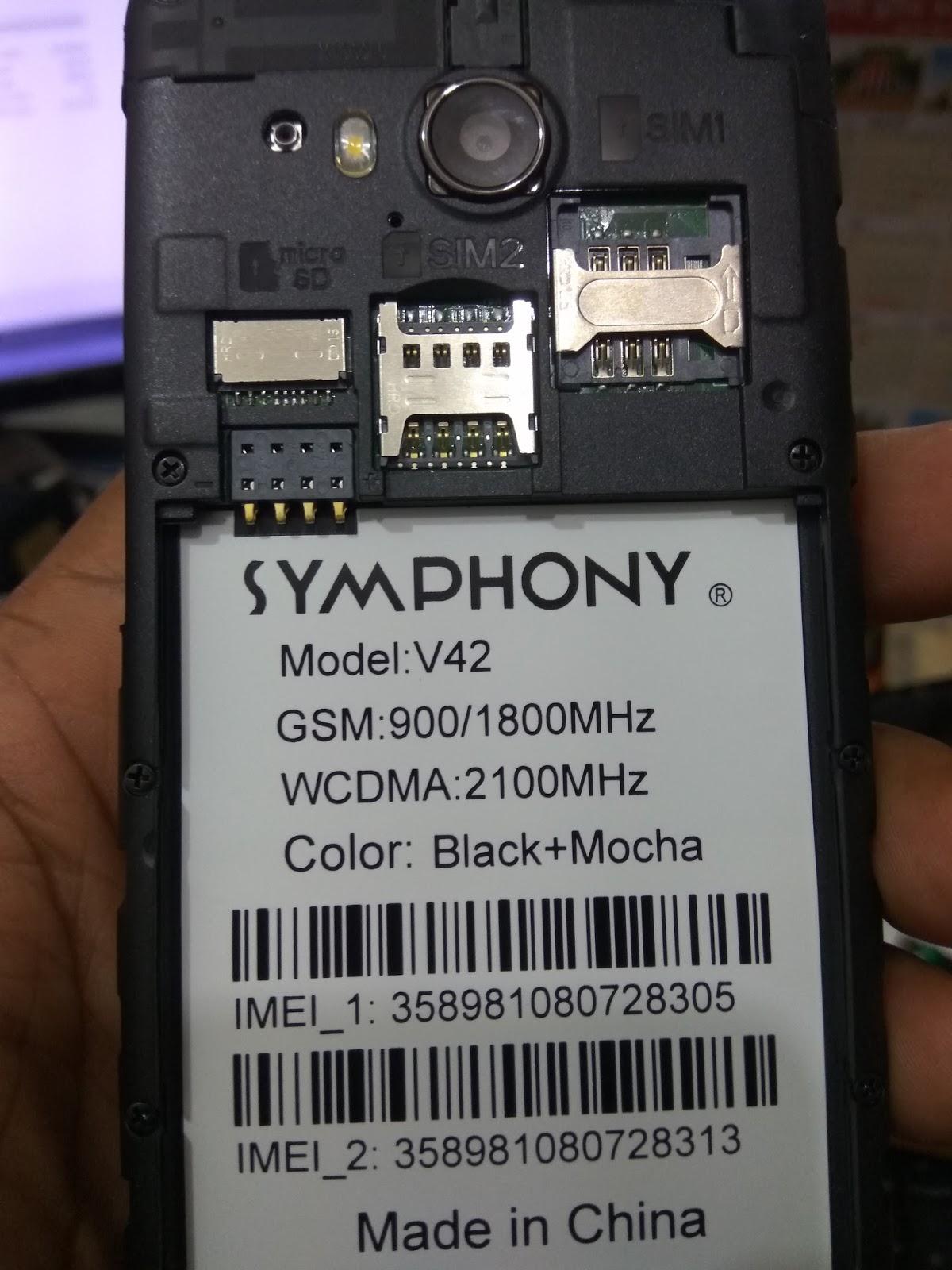 Symphony V42 IMEI Repair