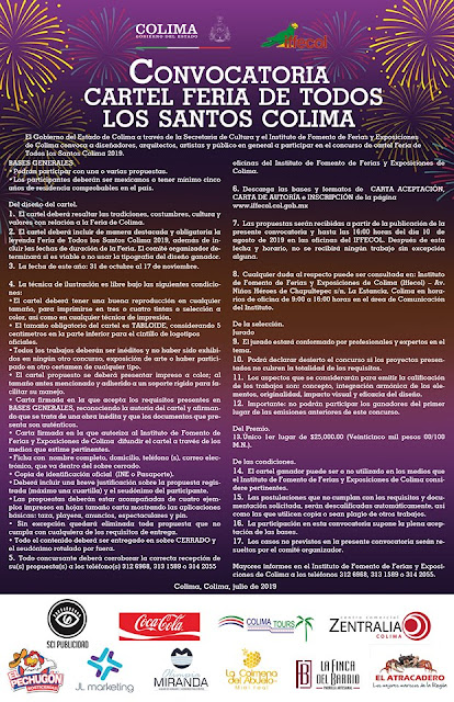 convocatoria cartel feria de todos los santos colima 2019