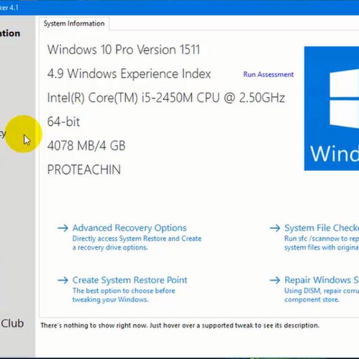 أداة Ultimate Windows Tweaker لجعل الويندوز 10 أسرع وحل بعض