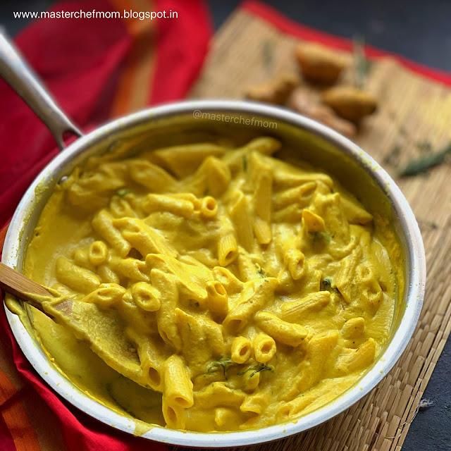 Masterchefmom's Golden Pasta |Turmeric Pasta | Creamy Fresh Turmeric Pasta