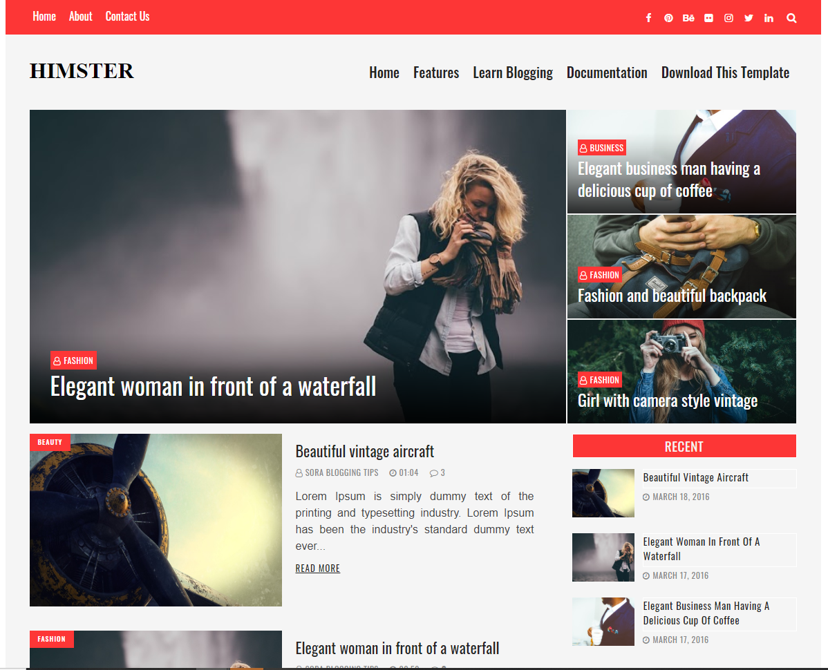 Himster Blogger Template