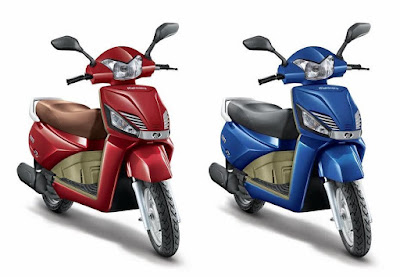 Mahindra Gusto 110 Pacific Matt Blue & Crimson Matt Red Hd Image