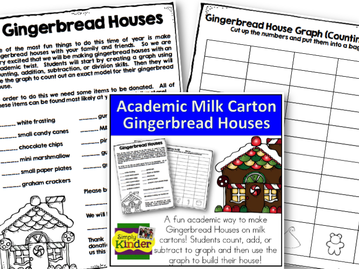 Milk Carton Gingerbread Houses  A How To with Freebies  Simply