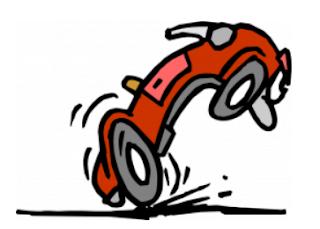 Cartoon Car Stopping Suddenly