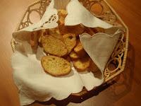 pan tostado en el horno