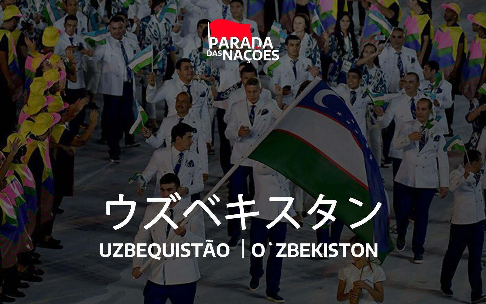 Uzbequistã na cerimônia de abertura dos Jogos Olímpicos