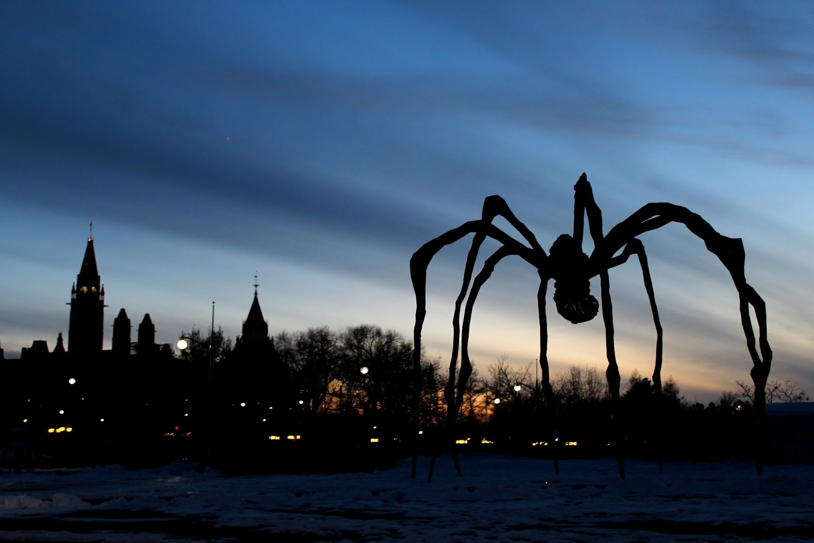 Our favourite venue is guarded by a giant Arachnid