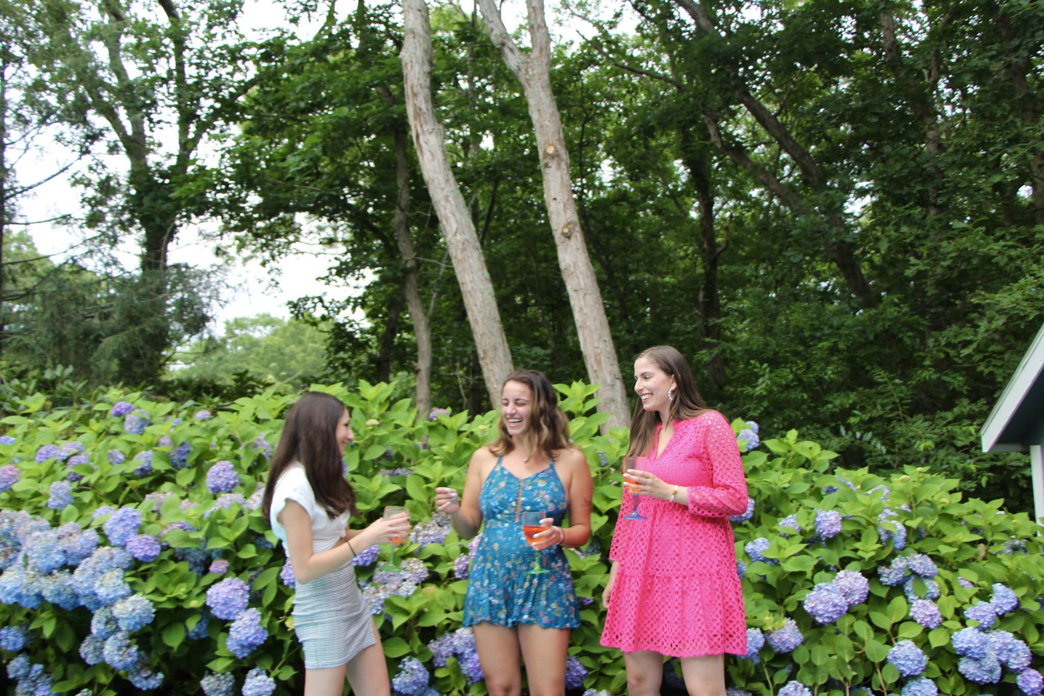 flowers, hydrangeas, friends, long island, east hampton, hamptons