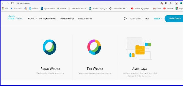 Webex application display, Select join