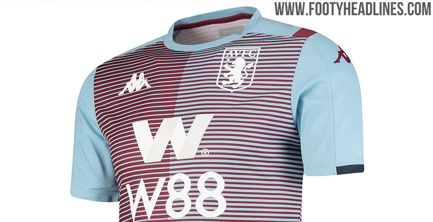 huge selection of 7e626 6f35a Kappa Aston Villa 19-20 Premier League Pre-Match & Training ...