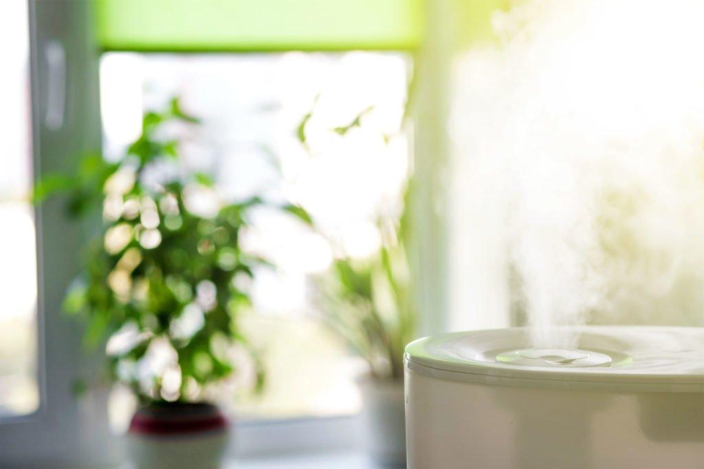 """Dùng máy phun sương để tạo độ ẩm trên 70% cho môi trường xung quanh để tránh hiện tượng """"thẩm thấu ngược"""" khi dùng HA"""