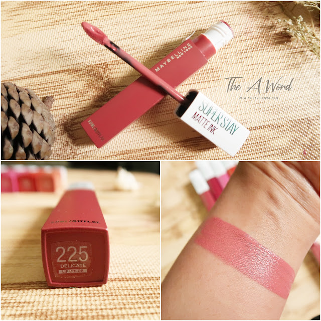 REVIEW Maybelline Super Stay Matte Ink 225 Delicate