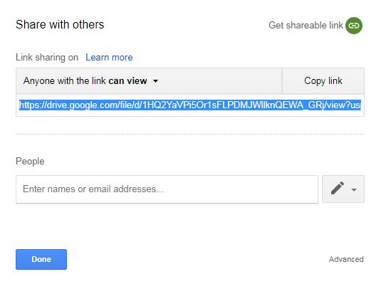 Cara share link file google drive - finish
