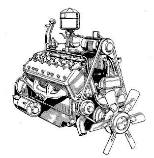 Lincoln Zephyr V12 Engine, Lincoln, Free Engine Image For