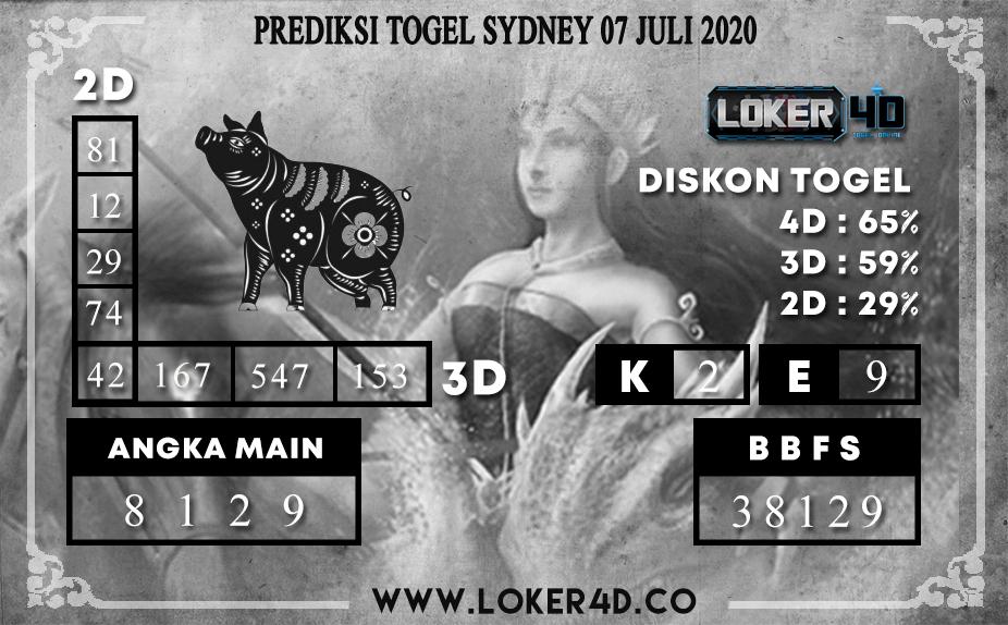 PREDIKSI TOGEL LOKER4D SYDNEY 07 JULI 2020