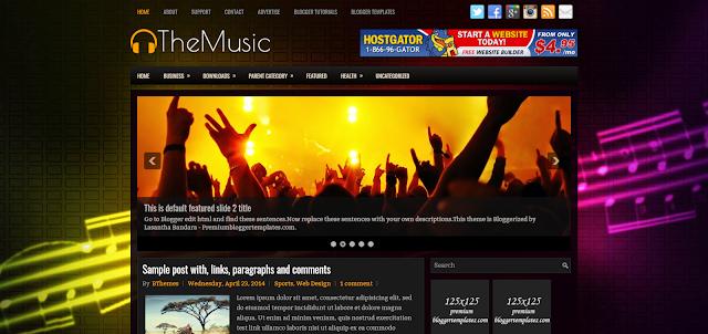 lyricist blogger template