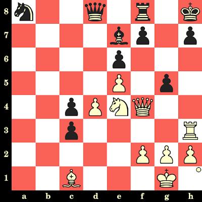 Les Blancs jouent et matent en 4 coups - Larry Christiansen vs Glenn Flear, Szirak, 1987