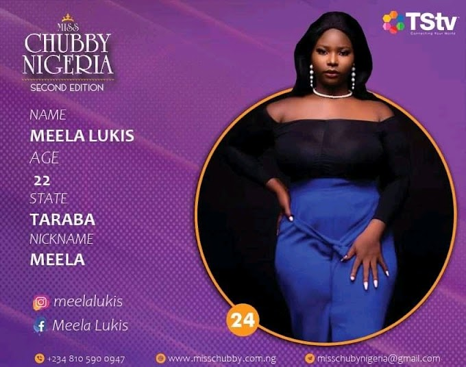 Meela Lukis To Represent Taraba State In Miss Chubby Nigeria Reality TV Show