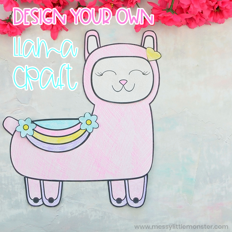 Mix And Match Llama Coloring Page Craft Messy Little Monster