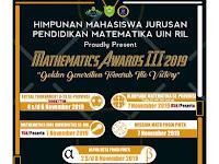 Mathematics Awards III 2019 Himatika UIN Raden Intan Lampung