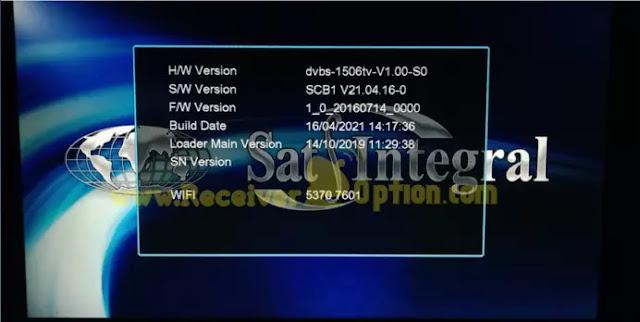 SAT INTEGRAL SP-1219HD SP-1229HD 1506TV 1G 8M NEW SOFTWARE 16 APRIL 2021