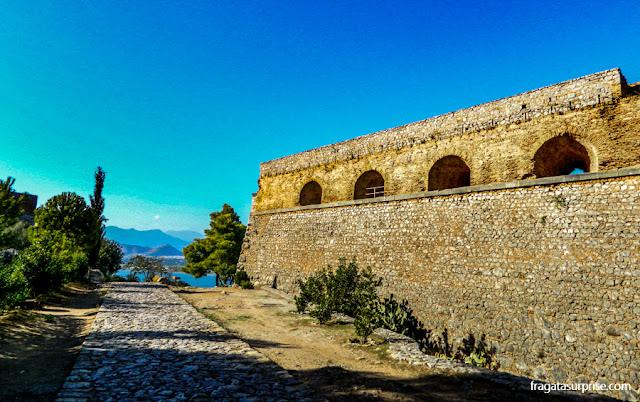 Fortaleza de Palamidi em Nafplio, Grécia