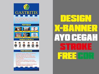 Design X-Banner GASTRITIS Free CDR Format