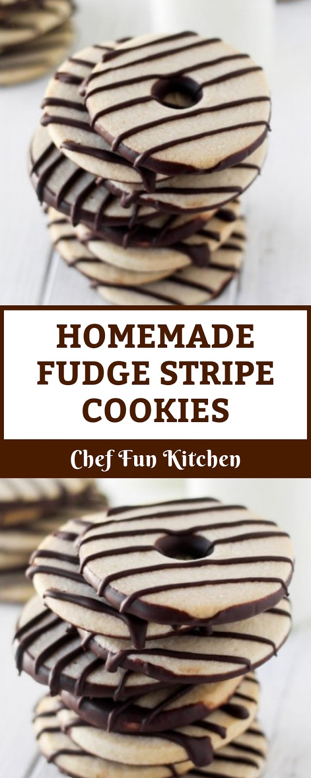 HOMEMADE FUDGE STRIPE COOKIES