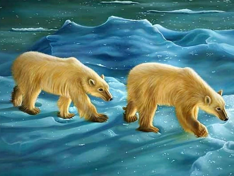 Paisajes De Animales: Imágenes Arte Pinturas: Pintura: Animales En Paisajes