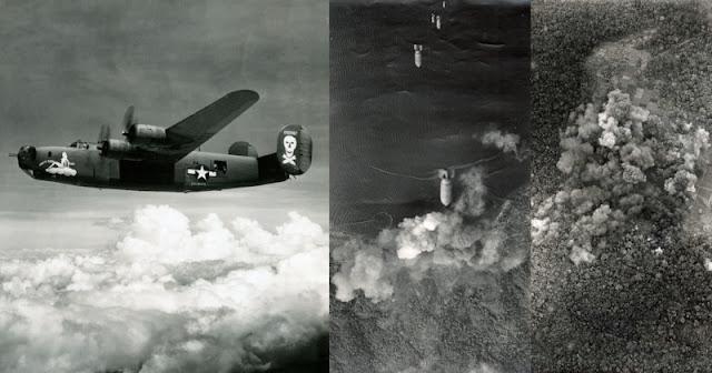 Rarissime fotografie aeree scattate da un B-24 durante la Seconda Guerra Mondiale