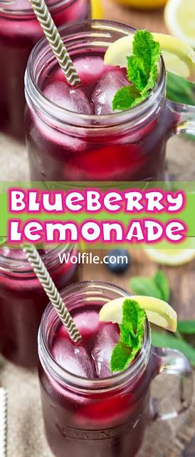 Blueberry Lemonade Recipe #Summer #Drink