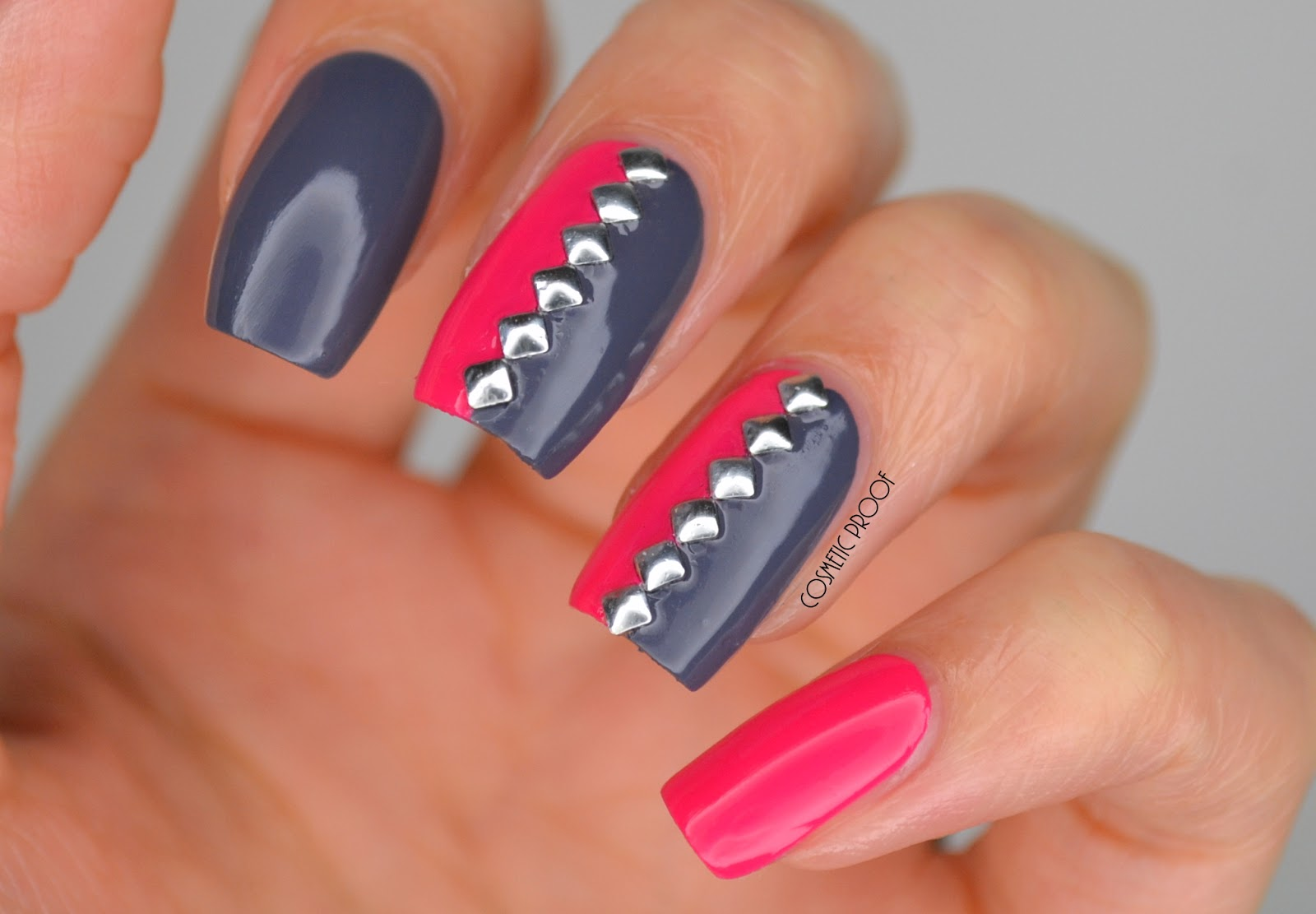 NAILS | Pink, Grey and Studded with Duri Cosmetics #ManiMonday ...