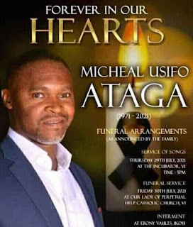 Murdered CEO Super TV Usifo Ataga For Burial In Lagos Today