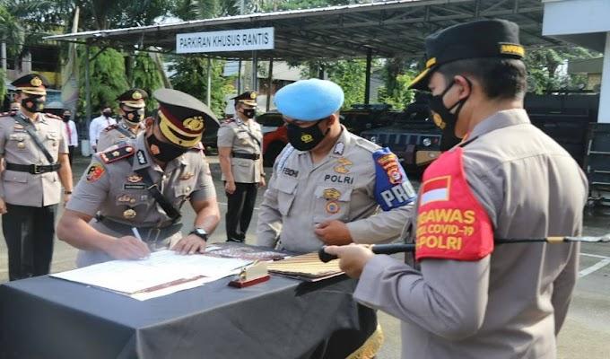 Kapolresta Tangerang Pimpin Sertijab Kasat Reskrim dan 4 Kapolsek
