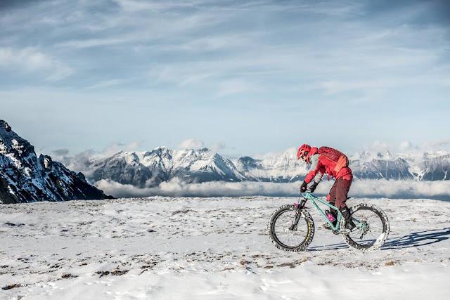 Mountainbike Tour im Schnee Steinach am Brenner Blaser