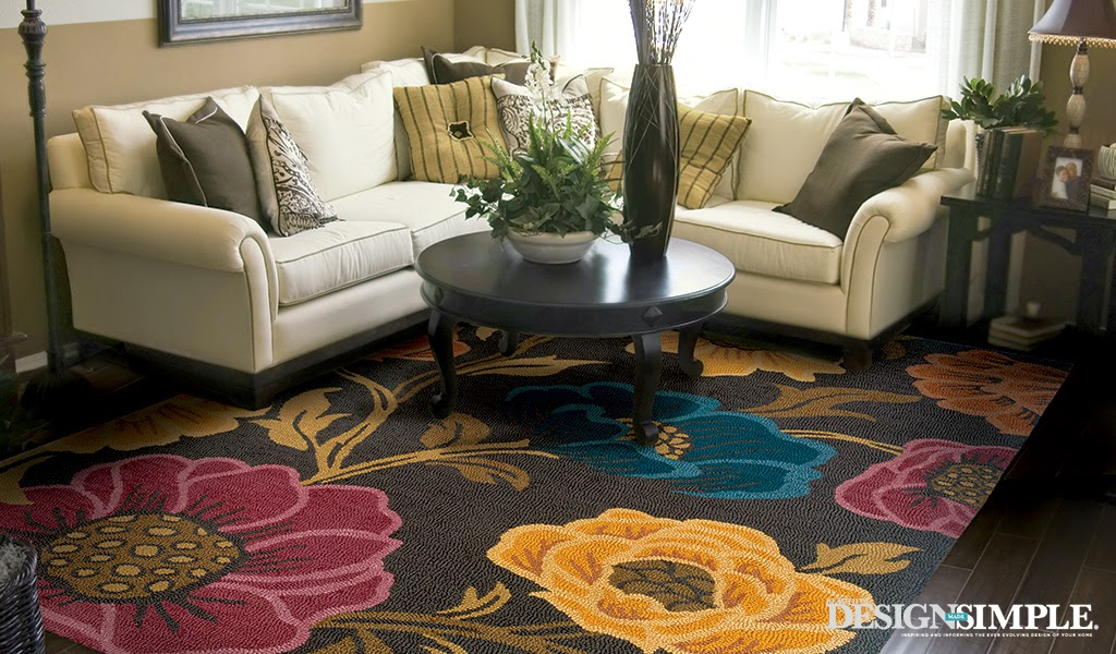 Eye for design decorating with bold floral rugs - Decorating with area rugs ...