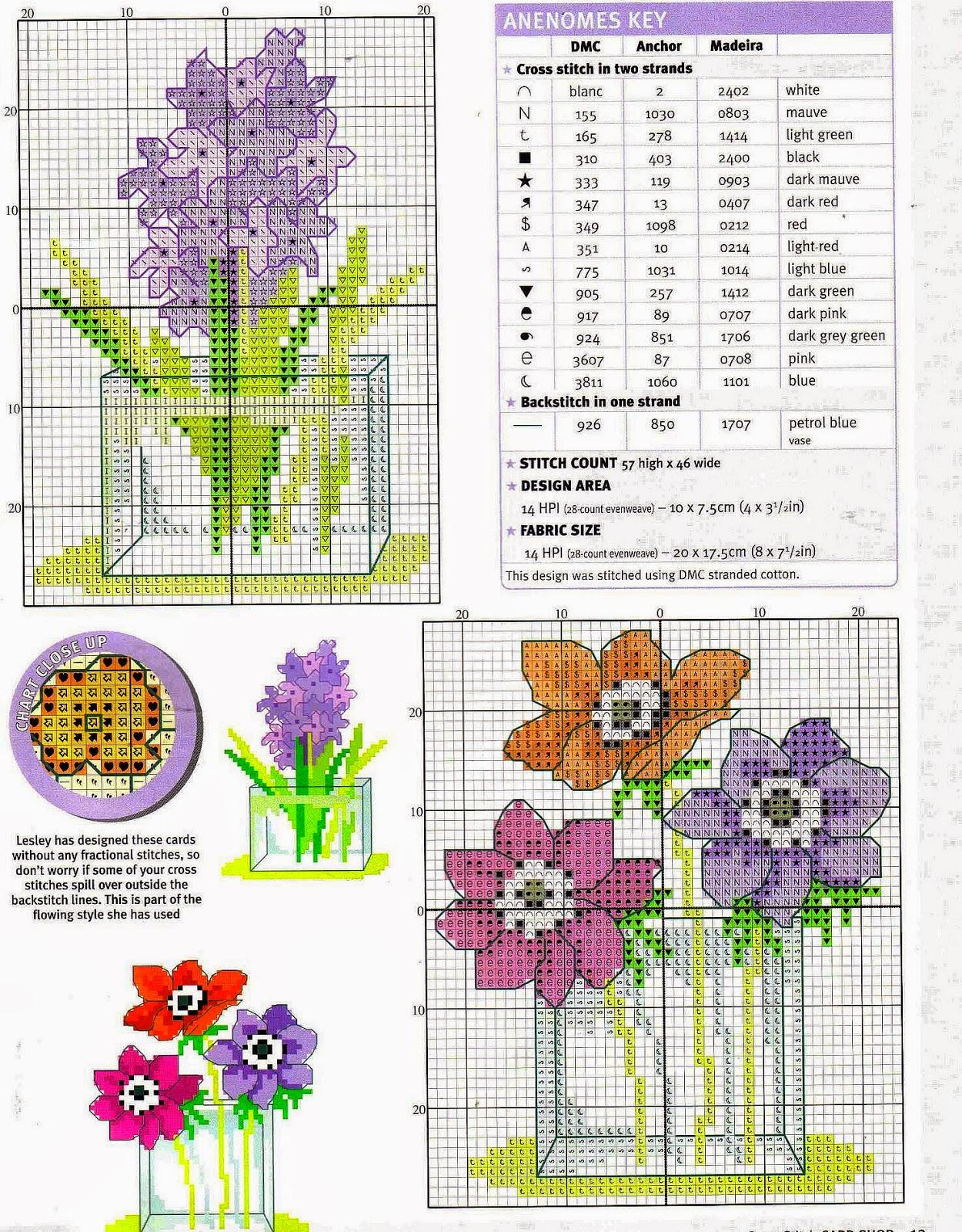 Grande raccolta di Schemi e grafici per Punto croce free Raccolta schemi a punto croce fiori