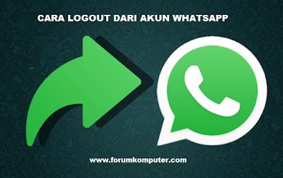 3 Cara Keluar Dari Akun Whatsapp Paling Mudah