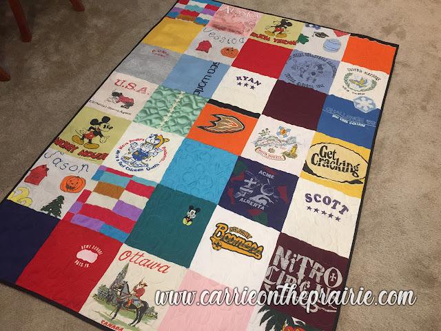 http://carrieontheprairie.blogspot.com/2019/05/my-first-t-shirt-quilt.html