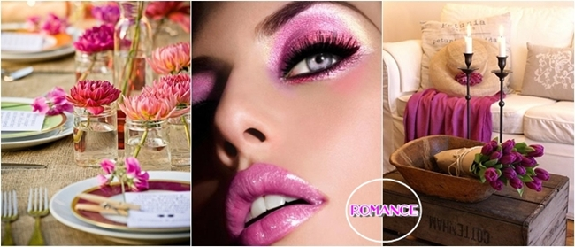 romantic hot pink touches
